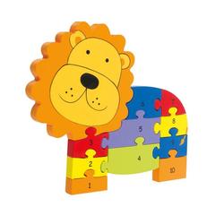 Nici Konturenpuzzle Zahlenpuzzle Löwe, 11 Puzzleteile