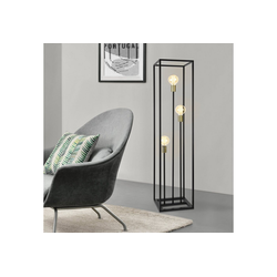 lux.pro Stehlampe, Stylische Stehleuchte Groningen - 3-flammig schwarz