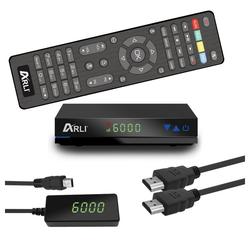 ARLI HD AH1 - 1087 1 SAT-Receiver (Mini HD Sat Receiver mit vielen Funitionen)