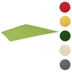 Bezug für Luxus-Ampelschirm HWC-A96, Sonnenschirmbezug Ersatzbezug, 3x4m (Ø5m) Polyester 3,5kg ~ hellgrün