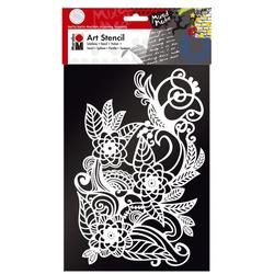 MARABU Schablone Art Stencil 02850 000 00 006, Zentangle, A4