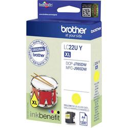 Brother Brother Tintenpatrone LC-22U Y Cyan LC22UY Tintenpatrone