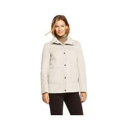 Jacke aus Fellimitat - L - Weiß