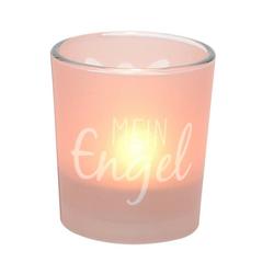 Dekohelden24 Windlicht Windlichtglas inkl.1 Teelicht, Mein Engel. (1 Stück)