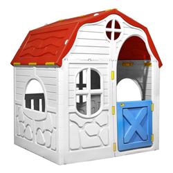 vidaXL Spielhaus vidaXL Faltbares Kinderspielhaus mit Schließbarer Tür und Fenstern