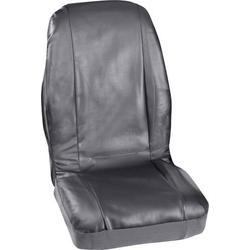 Petex 3007004 Profi 4 Sitzbezug 4teilig Kunstleder Schwarz Fahrersitz, Beifahrersitz