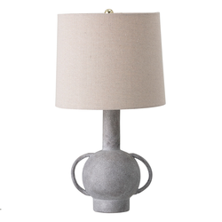 Tischleuchte Grau Terrakotta  Bloomingville