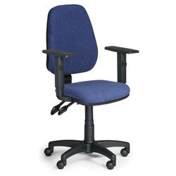 Bürostuhl alex mit armlehnen, blau
