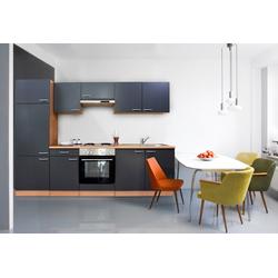 RESPEKTA Küchenzeile Basic, Breite 270 cm grau