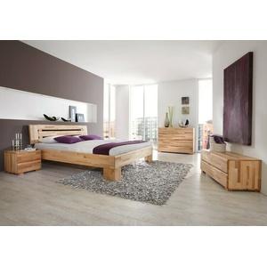 Schlafzimmer Losone Buche Massivholzbett Kommode Lowboard Nachttisch