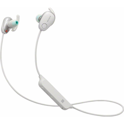Sony WI-SP600N Sport-Kopfhörer (IPX4 wasserfest, bis zu 6 Stunden Akkulaufzeit, Extra Bass) weiß