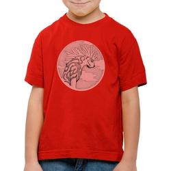 style3 Print-Shirt Kinder T-Shirt Dot Waldgott wolf prinzessin anime mononoke japan rot 164