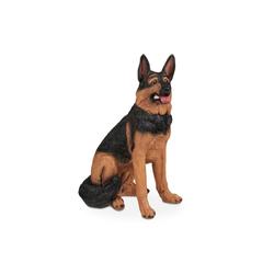 relaxdays Gartenfigur Lebensgroße Schäferhund Figur