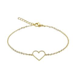 Armband - vergoldet - Herz