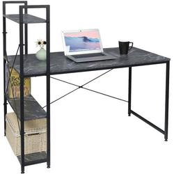 Woltu Schreibtisch TSB01, Moderner Schreibtisch mit integriertem Bücherregal