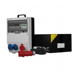 Stromverteiler TD-S/FI 16A 2x230V SKH mit Kabel und Stromzähler Doktorvolt® 2872