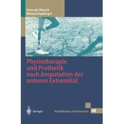 Physiotherapie und Prothetik nach Amputation der unteren Extremität als Buch von Wieland Kaphingst/ Gertrude Mensch