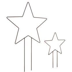 dio Only for You. Gartenstecker Stern (Set, 2-St., Ø 30 cm x H. 46 cm, Ø 40 cm x H. 63 cm) in Rostoptik