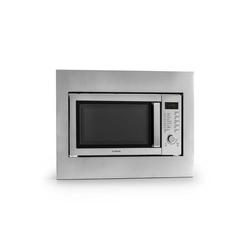 Klarstein Mikrowelle Steelwave Mikrowelle 23l 800W Grill 1000W Edelstahl Einbaurahmen, Grillfunktion