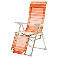 DEMA Sunnyvale Relaxsessel 62 x 77 x 119,5 cm orange-weiß gestreift klappbar