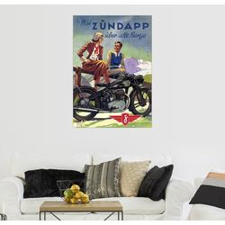 Posterlounge Wandbild, Premium-Poster Mit Zündapp über alle Berge 100 cm x 130 cm