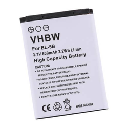 vhbw Akku passend für Kamera Somikon Full HD Camcorder DV-812.HD (600mA, 3.7V, Li-Ion)