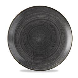 12 x Teller rund 28,8cm STONECAST RAW Black