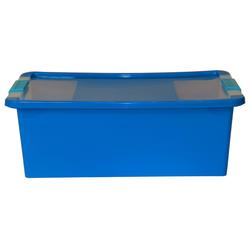 ONDIS24 Aufbewahrungsbox Aufbewahrungsbox mit Deckel Klipp Box M Lagerbox 24 Liter blau