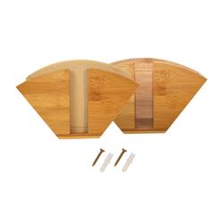 elbmöbel Küchenrollenhalter 2 er Set Kaffeefilterhalter Bambus Kaffeefiltetütenhalter Serviettenhalter Serviettenständer, (2-St)