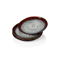 vancasso Tafelservice STARRY (4-tlg), Steinzeug, 4 teilig Flachteller aus Steinzeug rot