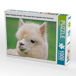 Alpaka: Flauschig und weich - Wieso macht mit mir eigentlich keiner Werbung? Lege-Größe 64 x 48 cm Foto-Puzzle Puzzle
