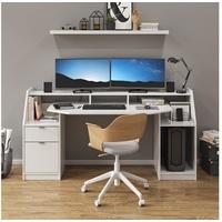 Vicco Schreibtisch Computertisch Bürotisch Home Joel Weiß Arbeitstisch PC Tisch