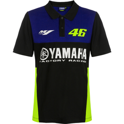 VR46 Yamaha Poloshirt, schwarz-blau, Größe XS