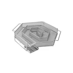 riijk Räucherbox Räucherschnecke Kaltrauchschnecke silber 6-Eckig – Sparbrand für Smoker, Grill oder Räucherofen Kaltrauchgenerator eckig, Kaltraucherzeuger, Räucherspirale für Räucherspäne 22 cm x 4 cm x 18 cm