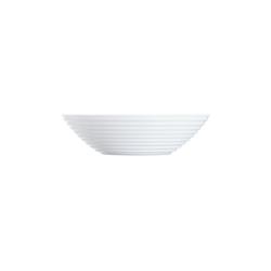 Arcoroc Dessertschale Stairo Uni, Opalglas, Schale Stapelschale Schüssel 16cm 450ml Opalglas weiß 6 Stück Ø 16 cm x 4.4 cm