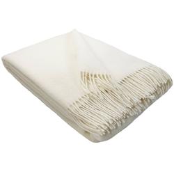 Wolldecke Wolldecke TIROL (doubleface) aus 100% Schurwolle, STTS weiß