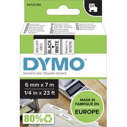 DYMO Schriftband D1 43613 Bandfarbe: Weiß Schriftfarbe:Schwarz 6mm 7m