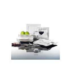 MALACASA Kombiservice MARIO (12-tlg), Porzellan, 12-teilig Geschirr Set aus Porzellan