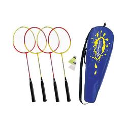Schildkröt Badmintonschläger Federball Set 4-Player