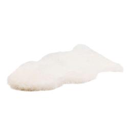 Fellteppich Schaffell Teppich, Gözze, fellförmig, Höhe 50 mm, echtes Schaffell, Wohnzimmer weiß