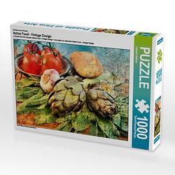 Italian Food - Vintage Design Lege-Größe 64 x 48 cm Foto-Puzzle Bild von Carmen Steiner Puzzle