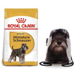 ROYAL CANIN Miniature Schnauzer Adult Hundefutter trocken für Zwergschnauzer 7.5 kg + Sportbeutel