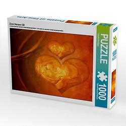 Zwei Herzen CB Lege-Größe 64 x 48 cm Foto-Puzzle Bild von Digital-Art Puzzle