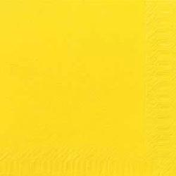Duni Zelltuch Servietten 40x40 3lg 1/4 F gelb - 4x250 Stück