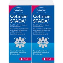 CETIRIZIN STADA Saft 10 mg/10 ml 150 ml