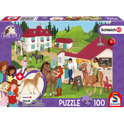 Horse Club Auf dem Reiterhof. Puzzle 100 Teile mit Add-on (eine Original Figur)