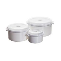 3 x Mikrowellentopf mit Deckel Behälter Topf Set Dampftopf Mikrowellengeschirr