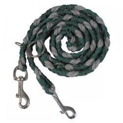 MFH Hundeleine Hundeleine, geflochten, grün/grau, 3-fach verstellbar, Nylon