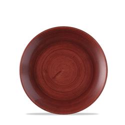 12 x Teller rund 16,5cm STONECAST PATINA Red Rust