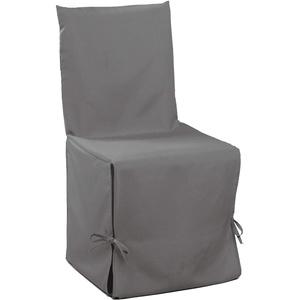 Douceur D'Intérieur - 1604791, Stuhlhusse , 50 X 50 X 50 Cm , Essentiel , Polyester Unifarben , Grau